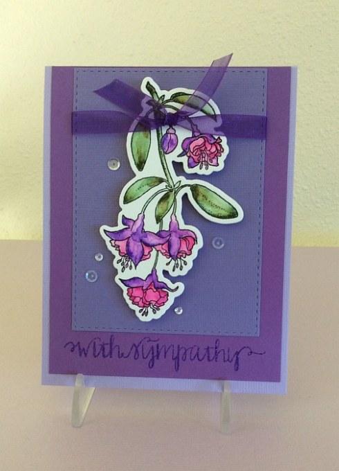 fushcia-sympathy card